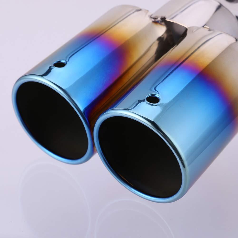 Ahomi in acciaio INOX doppio scarico cotto blu tubo auto posteriore coda marmitta punta gola Liner