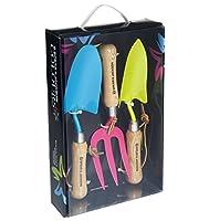 Spear & Jackson Buntes Colours-Set mit Blumenkelle, Unkrautgabel und...