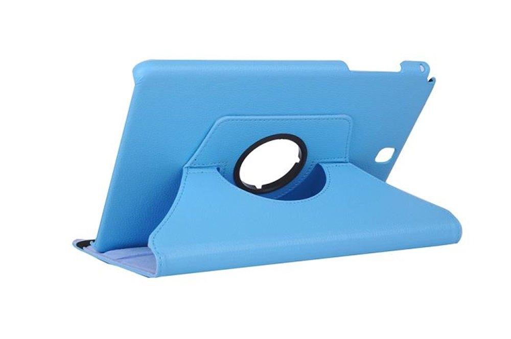 360/°Rotation Housse en cuir pour Samsung Galaxy Tab A 9.7 Pouces SM-T550 Samsung Tab A 9.7 Housse T555 Coque Housse de Protection Etui Smart Cover Case avec rabat//stand de positionnement Support,Bleu fonc/é