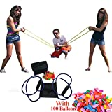 NEW Water Balloon Launcher Slingshot Outdoor 3 Persons Toys Water Gun Beach Water Fight Snowball Fight Random Color with 110Pcs Water Balloon