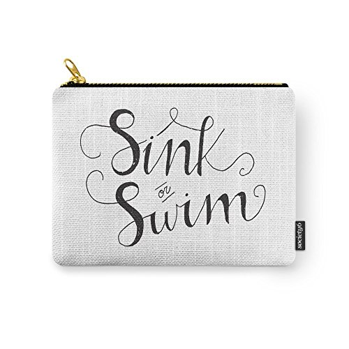 Society6 Sink Or Swim Carry-All Pouch Small (6'' x 5'') by Society6