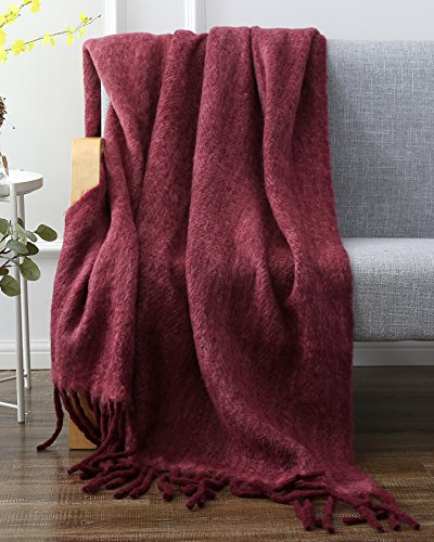 Mohair Wool Throw - SLPR Faux Mohair Wool Blend Throw (50