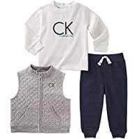 Calvin Klein Baby Boys' 3 Pc Vest Set