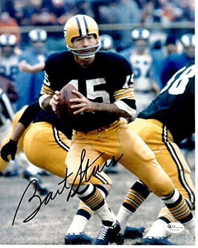 Bart Starr Autographed Green (Bart Starr Signed - Autographed Green Bay Packers 8x10 inch Photo - Guaranteed to pass PSA or JSA - Hall of Famer)
