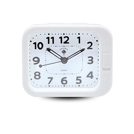 TSXO Reloj Despertador Mudo Estudiante De Moda Personalidad ...