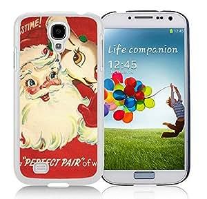 Personalization Samsung S4 TPU Protective Skin Cover Santa Claus White Samsung Galaxy S4 i9500 Case 8