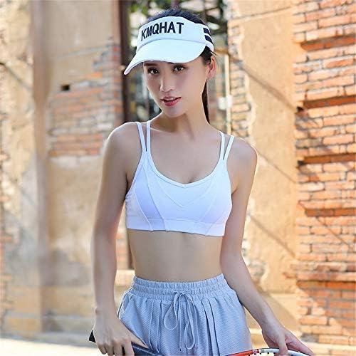 レディースジャージ上下セット 高または低インパクトの女性に適したスポーツブラ (Color : White, Size : M)