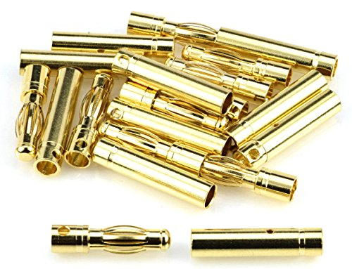 Apex RC Products 4.0mm Male / Female Gold Plated Bullet Connectors Plugs - 10 Pair #1103