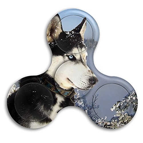 Hand Spinner - Cool-Siberian-Husky-Dog-Wallpaper High Speed Fidget Spinner Hand Toys - Toy Great Gift - Stress Reducer, Perfect For ADD, ADHD, Anxiety, Adult & Children
