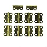RZDEAL 10 Pcs Mini Plated Copper Hinges Butterfly