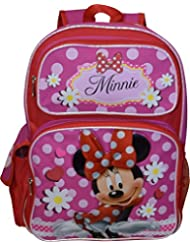 Disney Girls Minnie Mouse 16 Deluxe School Bag Backpack