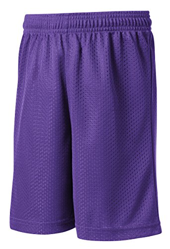 Sport-Tek 174 Youth PosiCharge 174 Classic Mesh Short. YST510 Small Purple