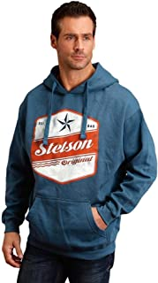 product image for Stetson Western Sweatshirt Men Hoodie Logo Royal 11-097-0562-0875 BU
