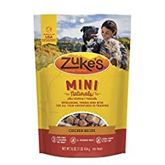 Training is one of the biggest adventures you and your dog will set off on together. And with the right treat, you can keep each and every moment healthy and deliciously fun. At less than 3 calories per treat, Zuke's Mini Naturals dog treats ...