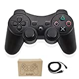 Kolopc Wireless Bluetooth Controller For PS3 Double Shock - Bundled with USB charge cord (Black)