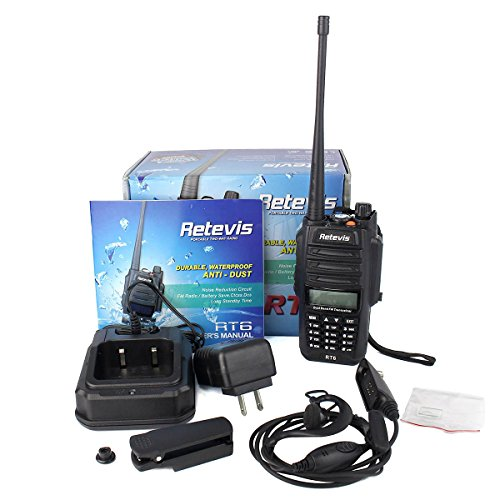 Retevis RT6 2 Way Radio IP67 Waterproof and Dust Proof Dual Band VHF/UHF 136-174Mhz/400-520Mhz 5/3/1W Ham Radio with Waterproof Earpiece (5 Pack) and Programming Cable (1 Pack) by Retevis (Image #6)