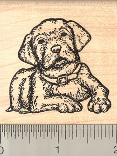 Lab Rubber Stamps - Labrador Retriever Dog Rubber Stamp, Puppy