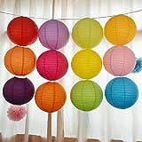 1/5/10/20pcs Chinese Lanterns Lamp Round Paper 8/20cmWedding Party DecorationHL