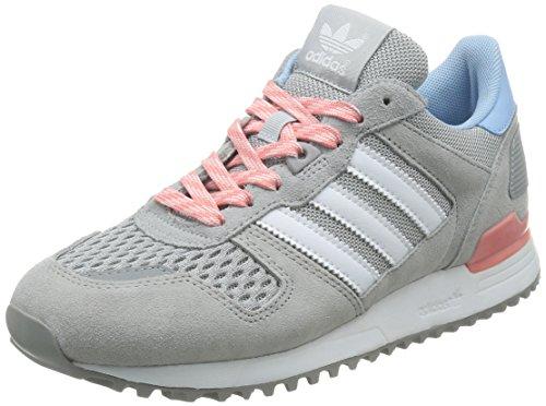 adidas Damen ZX 700 Sneakers, Grau (Light Granite/Ftwr White/Peach Pink), 41 1/3 EU
