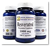 Mental Refreshment: 100% Pure Resveratrol - Heart Health, Weight Loss, Anti-Aging (1 Bottle)