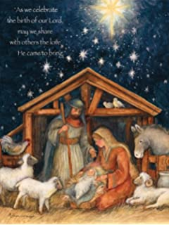 Amazon lang forever classic christmas card by susan winget lang 1004674 holy family boxed christmas cards artwork by susan winget m4hsunfo