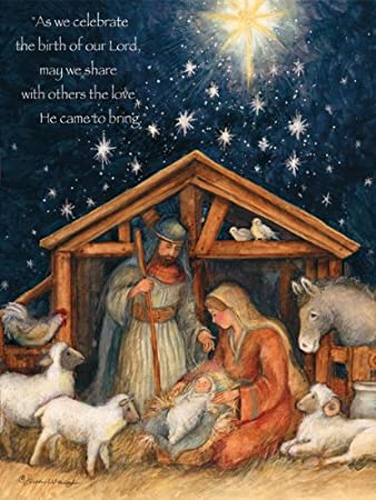 Lang Boxed Christmas Cards 2021 Lang Holy Family Boxed Christmas Card 5 38 X 6 88 Inches 18 Cards With 19 Envelopes 1004674 Amazon In Office Products