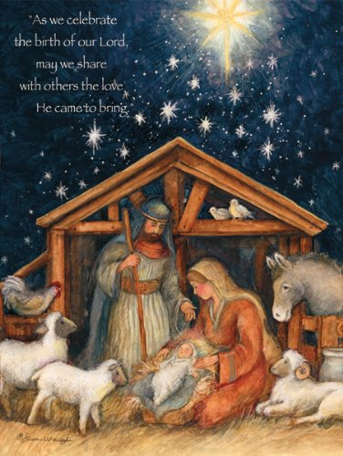 Card Nativity Scene Christmas (LANG 1004674 -