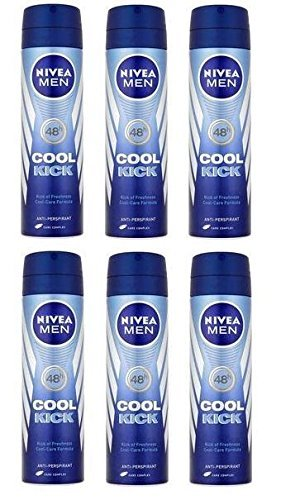 6 x Nivea Men® Cool Kick 48h Anti-Perspirant 150ml by Nivea for Men