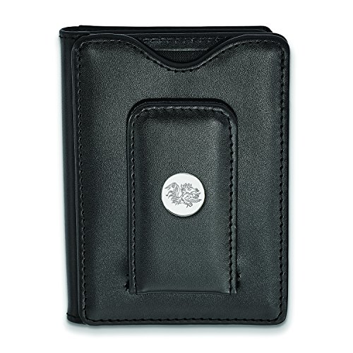 South Carolina Black Leather Wallet (Sterling Silver)