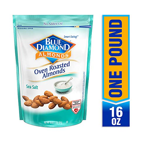 Blue Diamond Almonds, Oven Roasted Sea Salt, 16 Ounce
