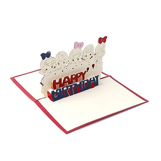 amiubo - Tarjeta de felicitación 3D para Tartas, cumpleaños ...