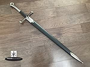 Medieval Knight Warrior's Sword with Scabbard (ANDURIL SWORD (440 STAINLESS STEEL))