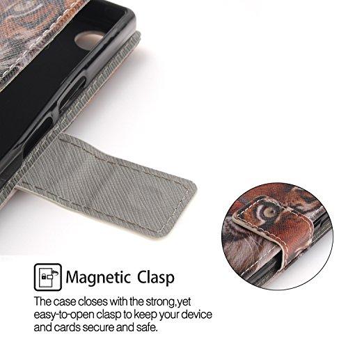 S Housse Sony Cuir Portefeuille et Coque de Lohpe Xperia Protecteur avec Luxe Compact Clapet XZ1 Carte Fentes pour Support 1 PU Coque YqWwRC