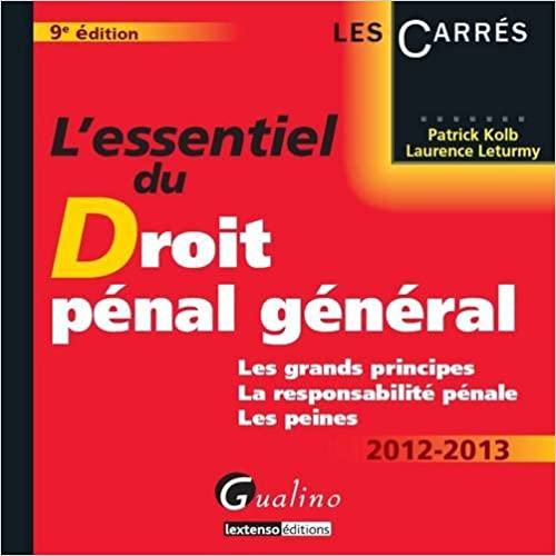 Cours De Droit Penal General En Pdf Download