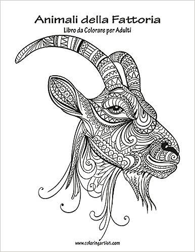Amazoncom Animali Della Fattoria Libro Da Colorare Per Adulti 1