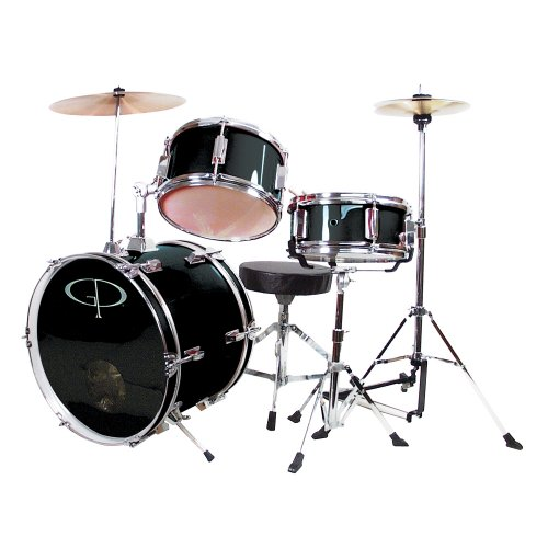 gp-percussion-gp50bk-complete-junior-drum-set-black-3-piece-set