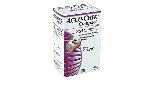 Accu Chek Compact Tiras Reactivas 50 Unidades: Amazon.es: Salud y cuidado personal