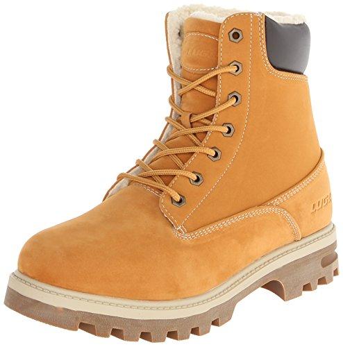 Lugz Men's Empire Hi Fleece WR Thermabuck Boot, Golden Wheat/Bark/Cream/Gum, 10.5 D US