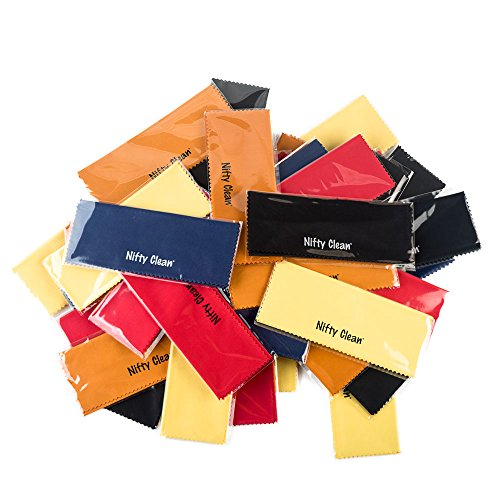 Pack of 50 - Nifty Clean Reusable Microfiber Cloth, Assorted ()