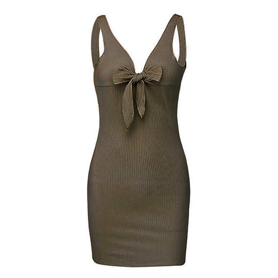 e24eefb90 Mymyguoe Mujer Vestido Corto Elegante Mujeres Atractivas Forman el Vestido  de Noche del Vestido asimétrico del Frente del Vestido de Fiesta del Hombro   ...