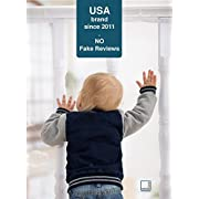 Roving Cove Safe Rail – 10ft L x 3ft H – INDOOR Balcony and Stairway Safety Net – PEARL color – Banister Stair Net – Child Safety; Pet Safety; Toy Safety; Stairs Protector