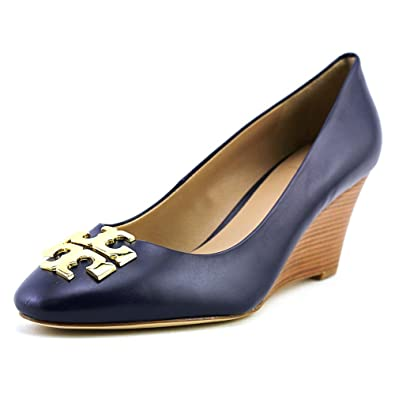 952d9d0cb Tory Burch Raleigh Wedge Women US 8 Blue Wedge Heel  Amazon.co.uk  Shoes    Bags