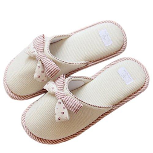 Fortuning's JDS Unisexo Adultos Pareja acogedor Lana Casa Calzado ovejas encantadoras Confortable Zapatillas y5m6DVc