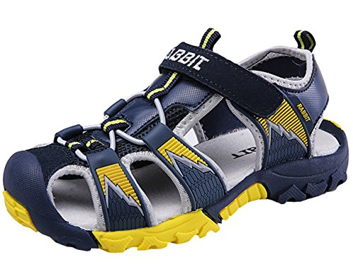 - DADAWEN Boy's Girl's Outdoor Athletic Strap Breathable Closed-Toe Water Sandals (Toddler/Little Kid/Big Kid) Dark Blue US Size 8.5 M Toddler