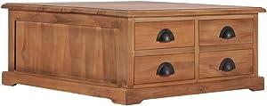 vidaXL Solid Teak Wood Coffee Table Home Living Room Office Furniture Accent End Sofa Side Tea Table 26.8