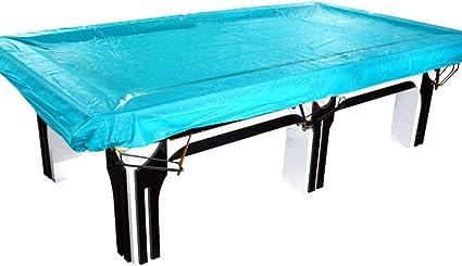 AtR Carpa Exterior Cubierta de Mesa de Billar Cubierta de Polvo Cubierta Impermeable Cubierta de Mesa de Billar Paño de 9 pies (Color: Azul Claro): Amazon.es: Jardín