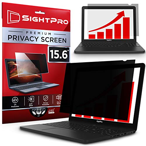 SightPro 15.6 Inch Laptop Privacy Screen Filter for 16:9 Widescreen Display - Computer Monitor Privacy and Anti-Glare Protector (Best Laptop With Anti Glare Screen)