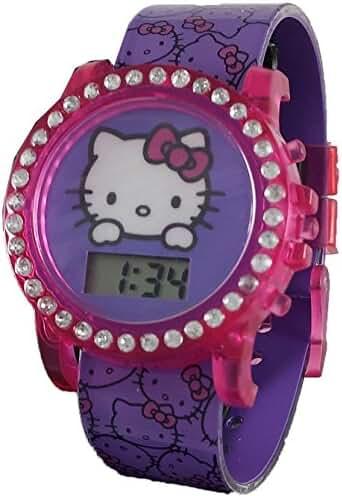 Hello Kitty Interchangeable Girl's Light-Up Digital Watch HK3017