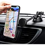 Car Phone Mount, Ainope Dashboard Magnetic Car Mount Holder Strong Magnet Car Cradle Mount Adjustable Car Holder Compatible iPhone Xs/XS MAX/8/7 Plus, Samsung Note 9/ S9/ S8/ S7/ S6, Mini Tablets