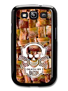 Death By Bacon Delicious Food Weave And Skull Cool Style Design case for Samsung Galaxy S3